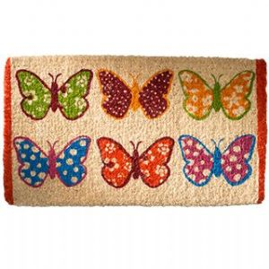 Doormat~ Hippy Bohemian Butterfly Assorted Colour Coconut Fibre Doormat~ By Folio Gothic Hippy DM25